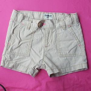 Girls khaki shorts-Oshkosh